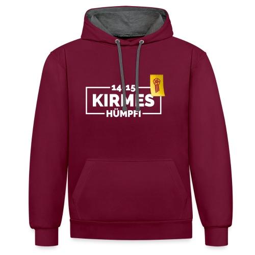Logo_Kirmes_Huempfi_34x17 - Kontrast-Hoodie