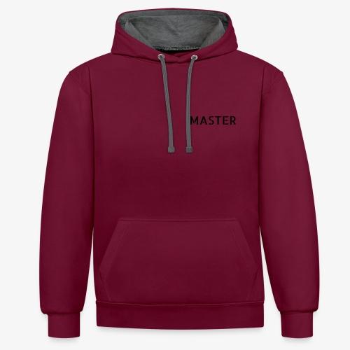 MASTER - Sudadera con capucha en contraste