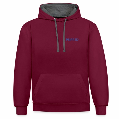 Logo in blue - Contrast Colour Hoodie