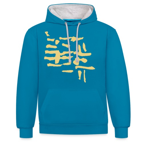 Structure / pattern - VINTAGE abstract - Contrast Colour Hoodie