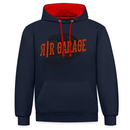 RR Garage Custom Motorcycles - Felpa con cappuccio bicromatica