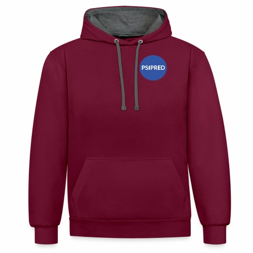 PSIPRED logo blue field - Contrast Colour Hoodie