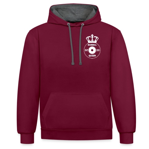 The Barbell Queen - Contrast Colour Hoodie