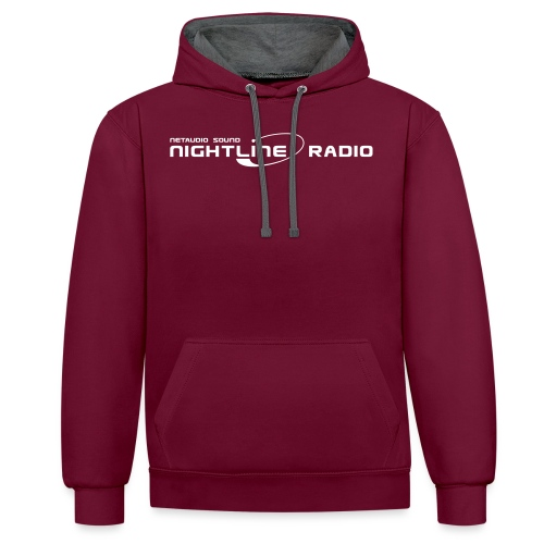 nightlineradio netaudio sound - Kontrast-Hoodie