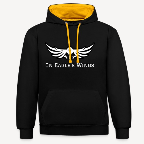 ON EAGLES WINGS - Contrast Colour Hoodie