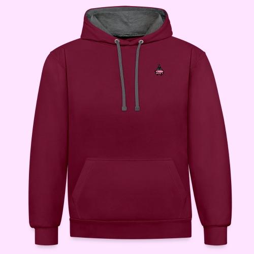 Squished Pinkguin - Kontrast-hættetrøje