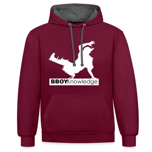 bboy knowledge Blanc & Noir - Sweat-shirt contraste