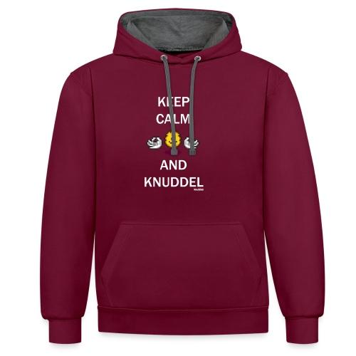 Keep Calm And Knuddel - Kontrast-Hoodie