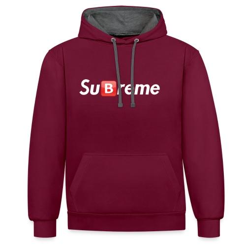 Subreme - Contrast Colour Hoodie