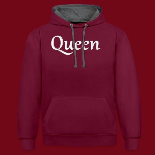 Queen - Kontrast-Hoodie