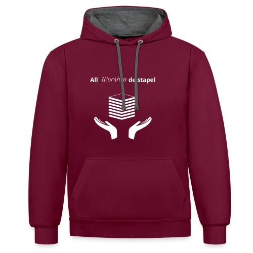All worship de stapel - wit - Contrast hoodie