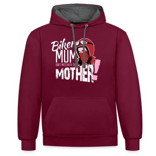 Biker Mum T-Shirt - Contrast Colour Hoodie