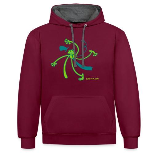 Dancing Frog - Contrast Colour Hoodie