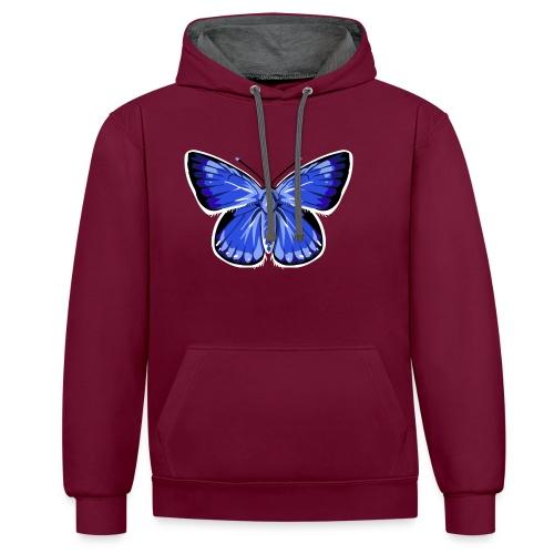 vlinder2_d - Contrast hoodie