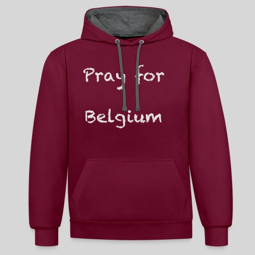 Pray for Belgium - Sweat-shirt contraste