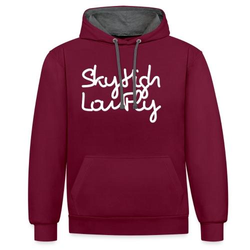SkyHighLowFly - Bella Women's Sweater - White - Contrast Colour Hoodie