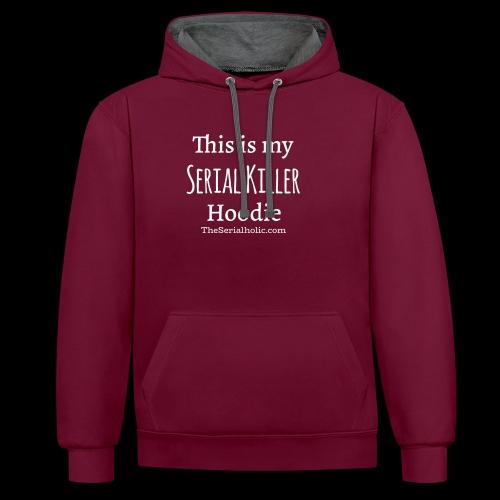 Serial Killer Hoodie - Contrast Colour Hoodie