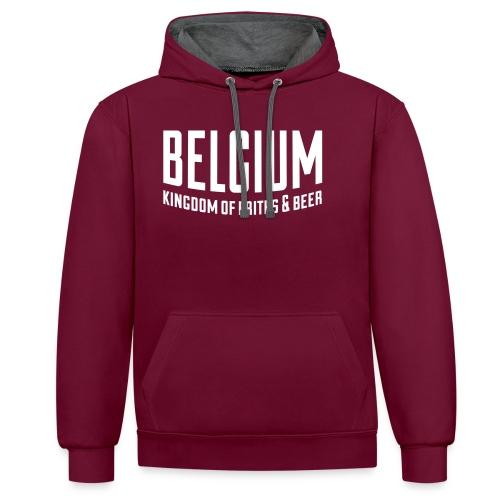 Belgium kingdom of frites & beer - Sweat-shirt contraste