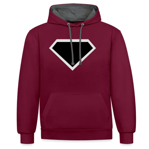 Diamond Black - Two colors customizable - Contrast hoodie