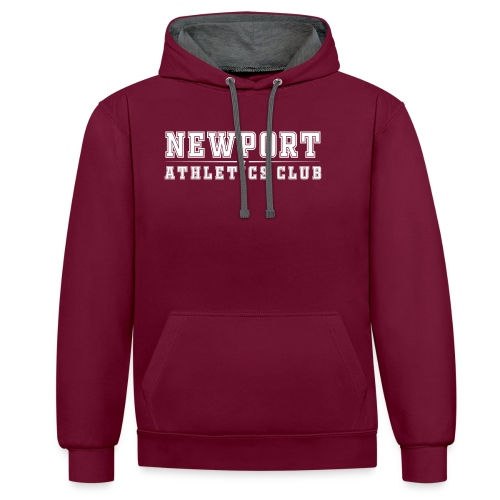 Newport Athletics Club official wear - Contrast Colour Hoodie