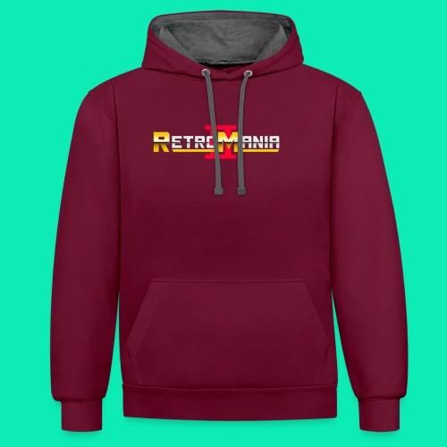 Retro Mania II - Logo - Kontrast-Hoodie