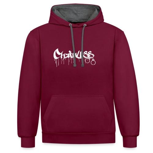 Chainless Records - Sudadera con capucha en contraste