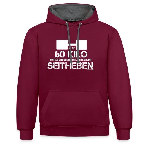 60 kg Seitheben - Kontrast-Hoodie