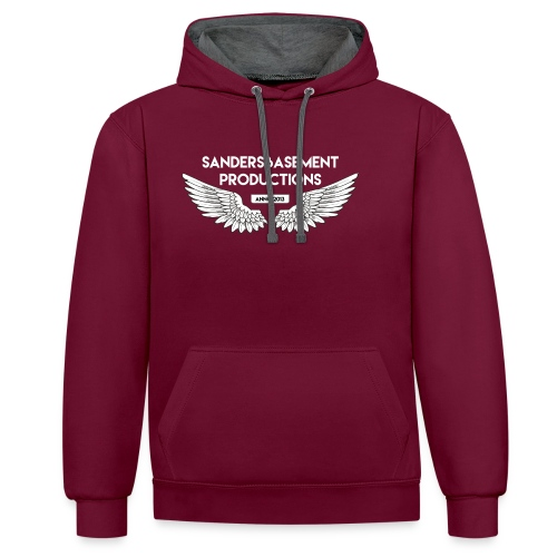 T SHIRT logo wit png png - Contrast hoodie