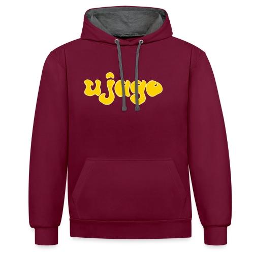 ujago gelb - Kontrast-Hoodie