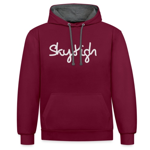 SkyHigh - Bella Women's Sweater - Light Gray - Contrast Colour Hoodie