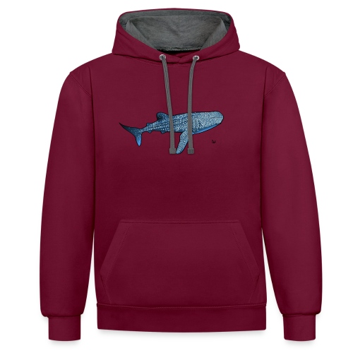 Whale shark - Contrast Colour Hoodie