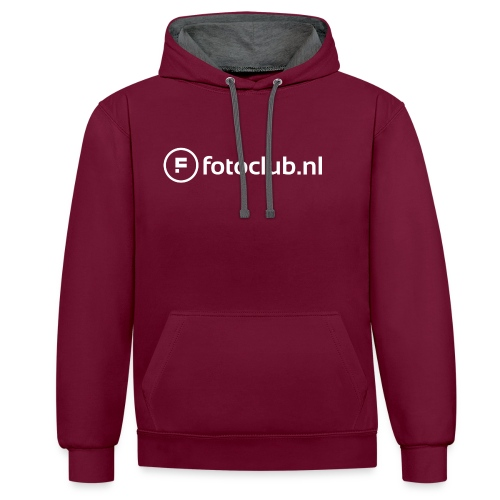 Logo Wit Fotoclublnl - Contrast hoodie