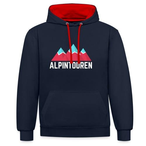 Alpintouren Logo - Kontrast-Hoodie