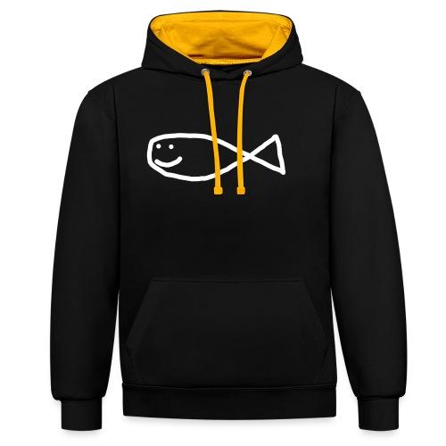 Klassisk Strandfisk T-Shirt - Kontrast-hettegenser