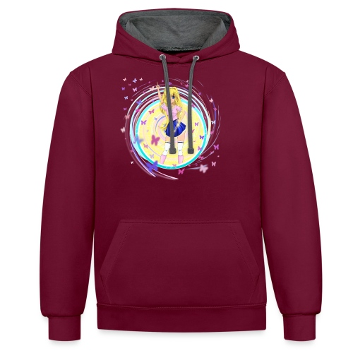 Mindy Butterfly - Contrast Colour Hoodie