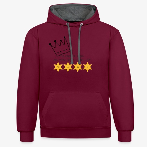 The Kings of Rugby - Contrast Colour Hoodie