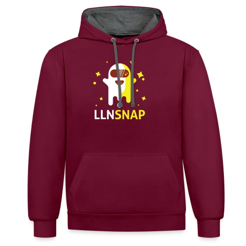 Fantôme astronaute (LLNsnap) - Sweat-shirt contraste