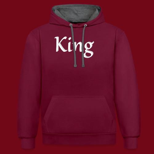 King - Kontrast-Hoodie