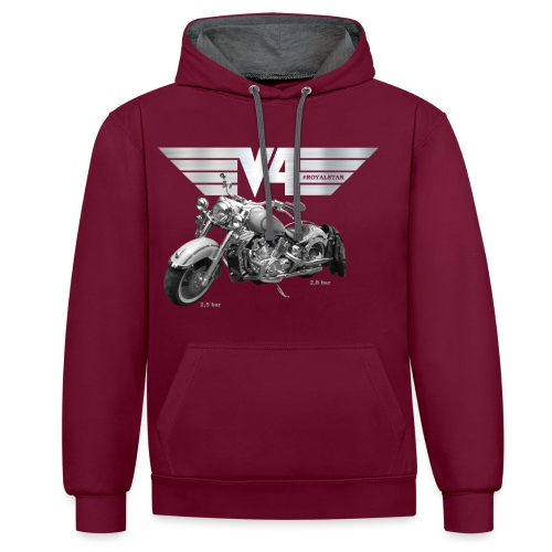 Royal Star silver Wings - Kontrast-Hoodie