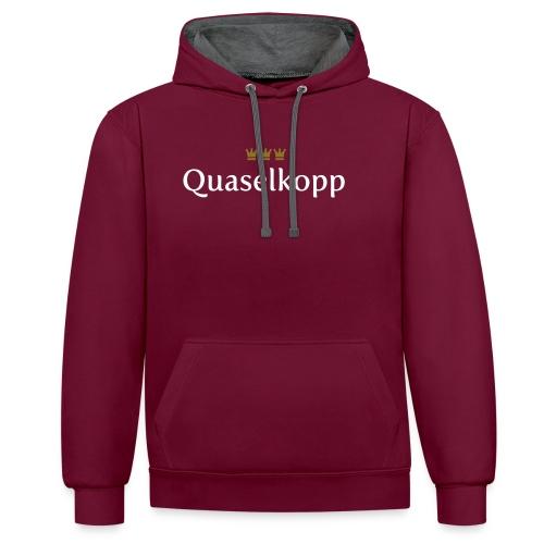 Quaselkopp (Köln/Kölsch/Karneval) - Kontrast-Hoodie