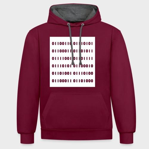 binär - Kontrast-Hoodie
