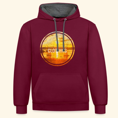Sail Away - Contrast Colour Hoodie