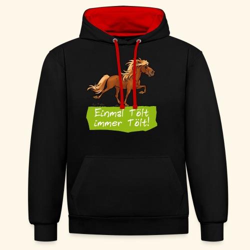 Island Pferd Tölt - Sweat-shirt contraste