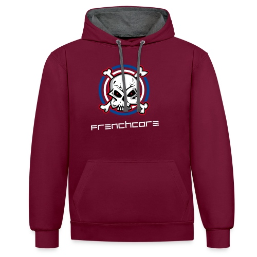 Frenchwear 06 - Kontrast-Hoodie