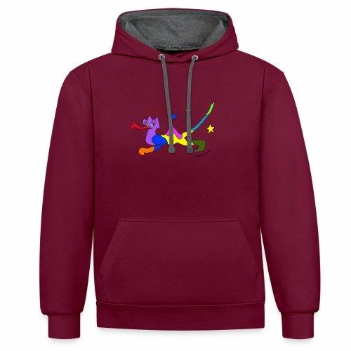Kenny - Contrast Colour Hoodie