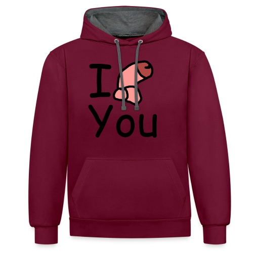 I dong you pack - Contrast Colour Hoodie