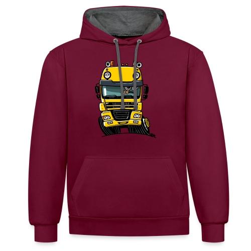 0810 D truck CF geel - Contrast hoodie