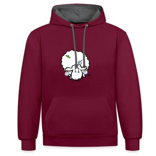 Christmas Tree Sheep - Contrast hoodie