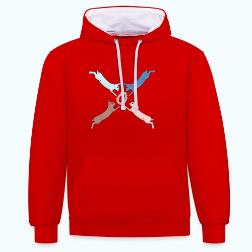 Easter - Contrast Colour Hoodie