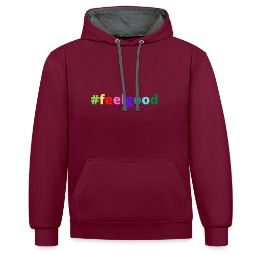 #feelgood - Kontrast-Hoodie